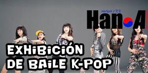 Exhibición en vivo de baile K-Pop