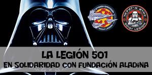 La Legión 501 en solidaridad con la Fundación Aladina