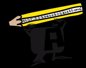 A con lápiz